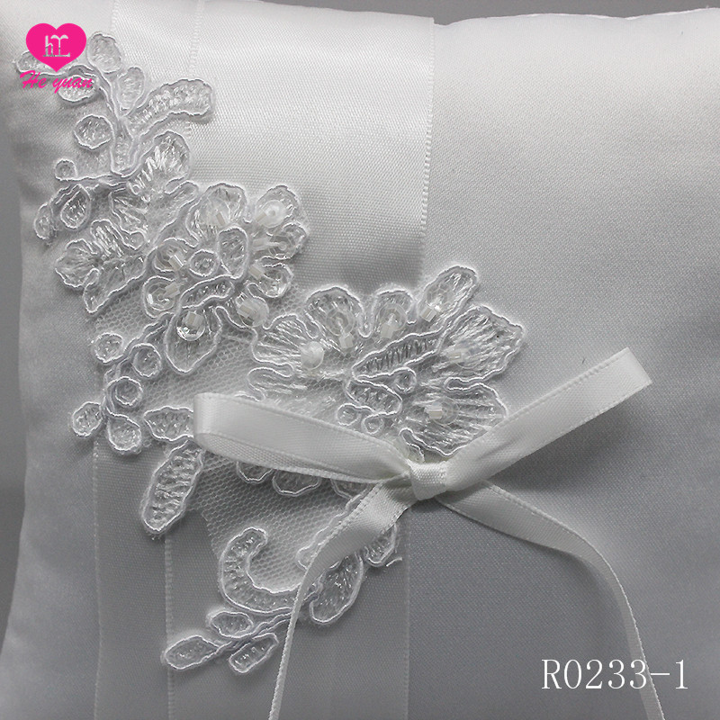 R0233-1Western style popular design wedding ring pillow,embroider lace ring cushion set,wedding decoration