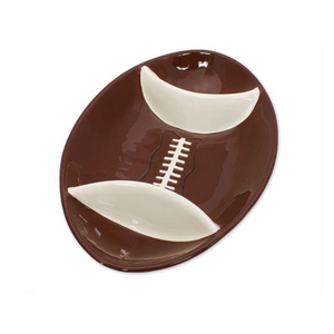 American football design Ceramic Chip Dish