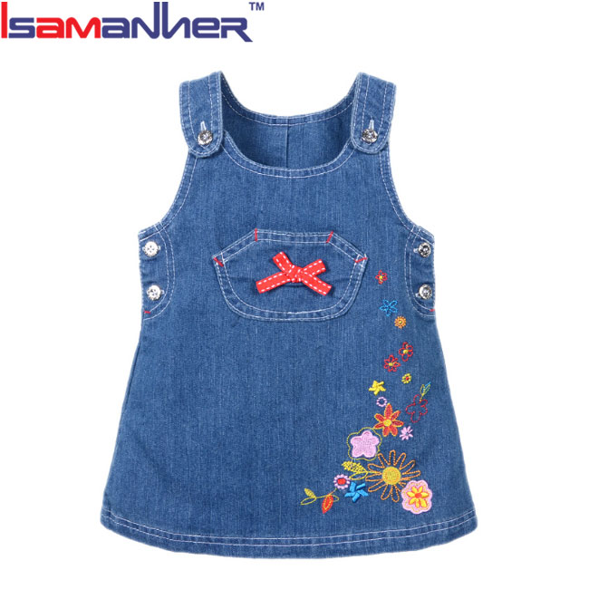 9d3aab056372a أحدث طفل الجينز الفساتين الأطفال الفساتين التصاميم لمدة 3 سنوات طفل ...