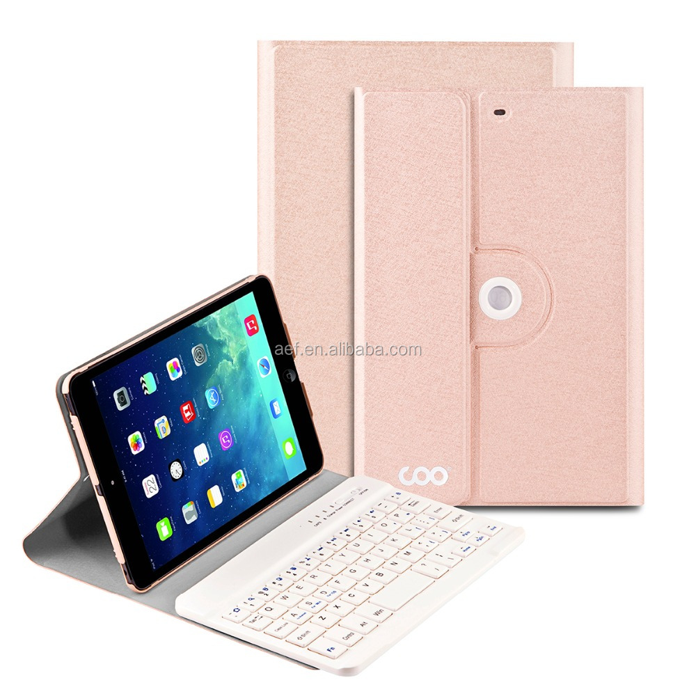 tablet bluetooth PU leather keyboard cover case for ipad mini 4