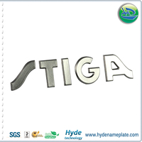 Personalized Design Plastic Logo Embossing Metallic Label, Electroformed 3D metallic Sticker With Your Own Logo