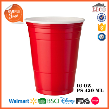 Red Solo 16OZ 450ML Plastic PS Two Tone Red Cup