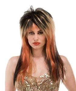 Wig Punk Diva Black/Blonde/Copper
