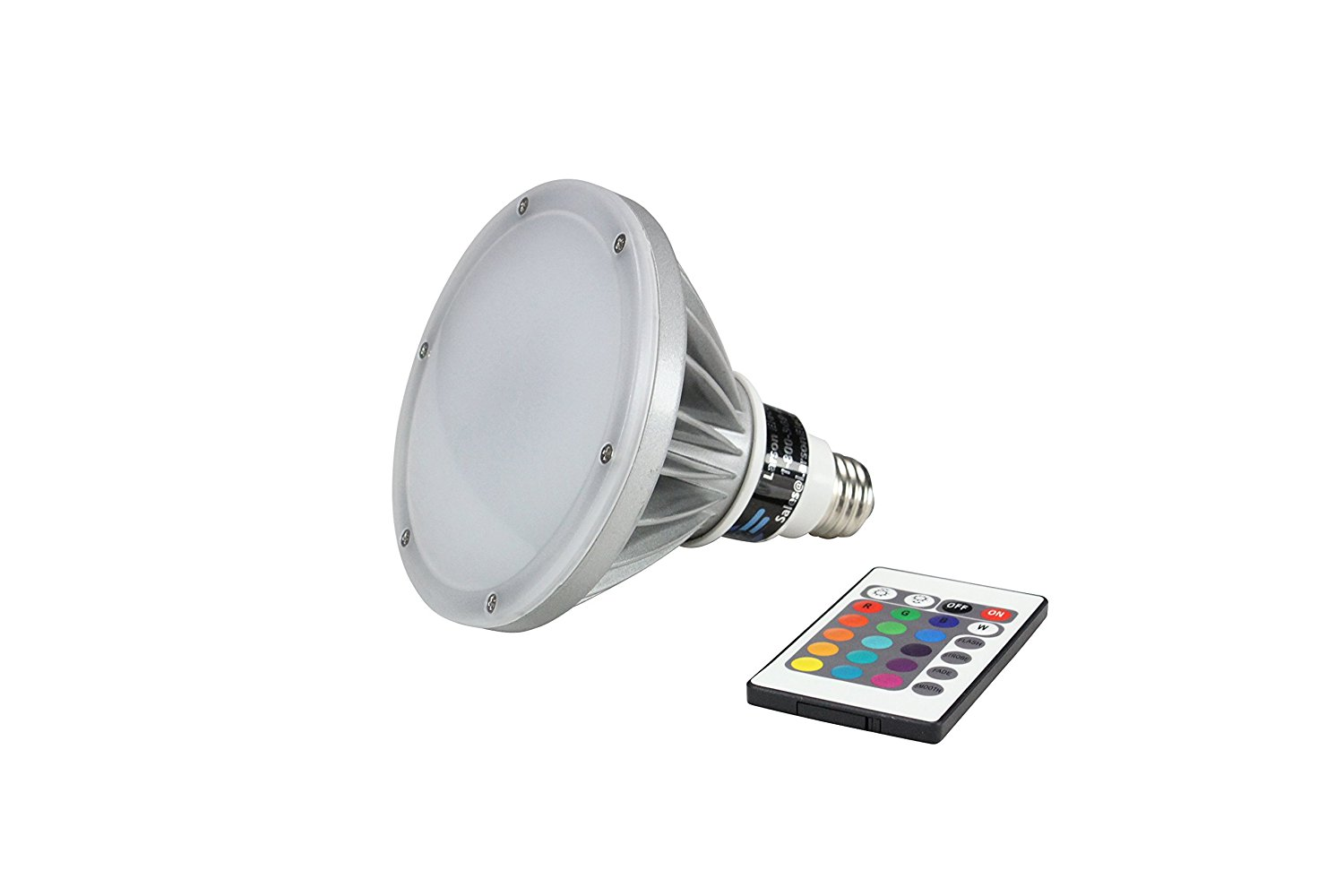 18 Watt RGB LED PAR 38 Remote Control Light - Dimmable - Color Changing Bulb(-Memory-Spot)