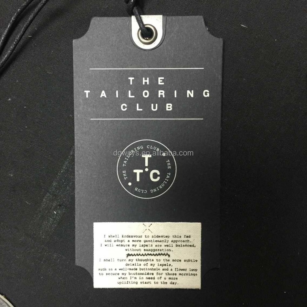 High Quality Cheap Wholesale Garment Hang Tag For Clothing