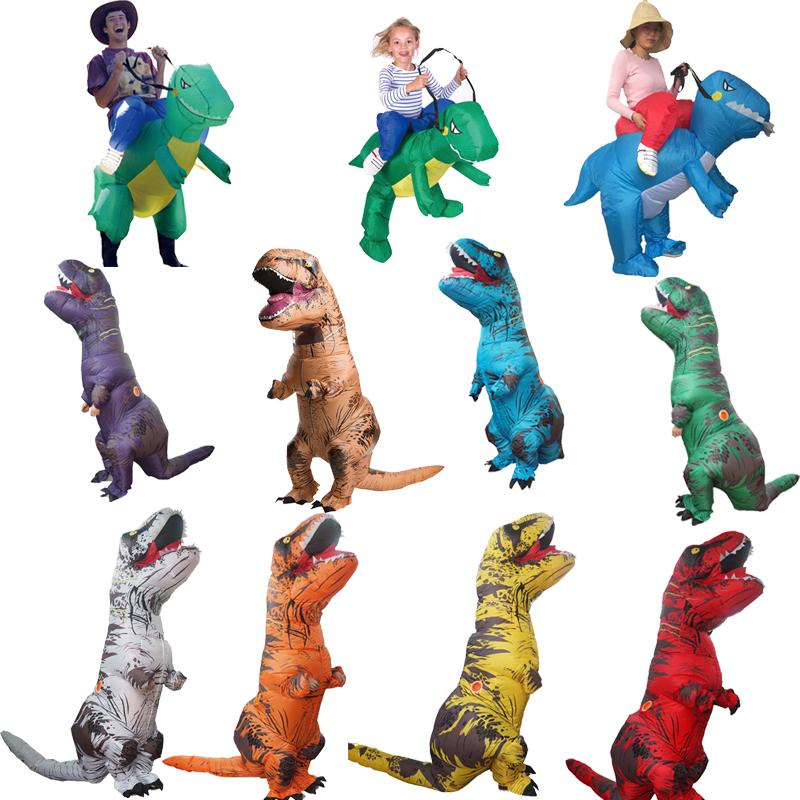 ผู้ใหญ่ Purim Inflatable t rex เครื่องแต่งกายคริสต์มาส Jurassic World ไดโนเสาร์ Inflatable เครื่องแต่งกายสำหรับผู้ใหญ่ฮาโลวีน Cosplstume