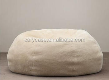 Marvelous Shaggy Fur White Bean Bag Lounger Indoor Luxury Beanbag Sofa Chair And Furnitures Buy Faux Fur Beanbag Chair Sofa And Cuddle Chair Big Long Beanbag Gmtry Best Dining Table And Chair Ideas Images Gmtryco