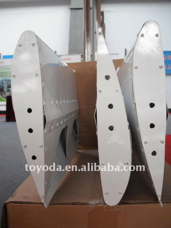 rotor blades on the wind generator