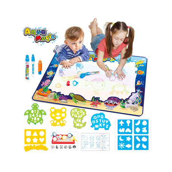 2019 New Educational Water Drawing Mat Aqua Magic Mat With Cute Accessories Reuse Doodle Mat For Kids