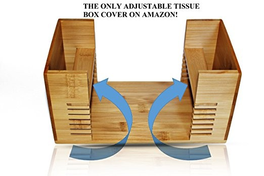 Popular style bamboo tissue box napkin holder 5