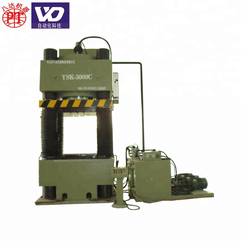 Large scale ceramic powder compacting machine hydraulic press