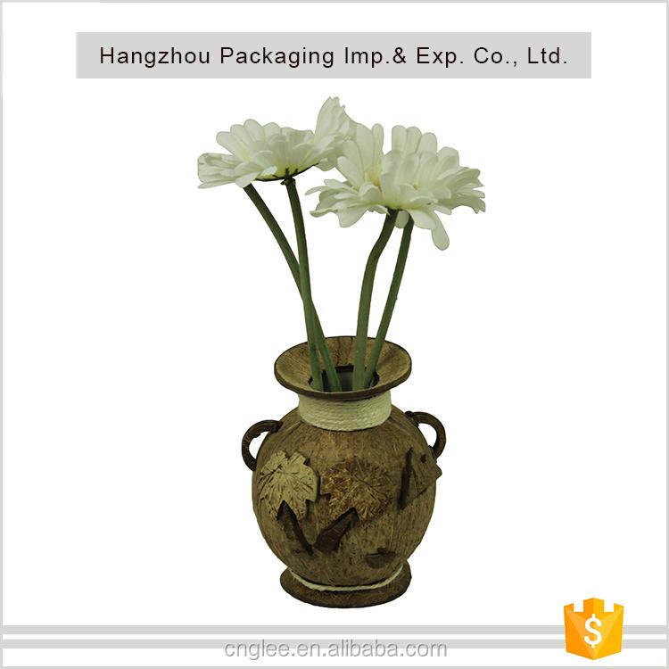 Indah Ramah Lingkungan Tempurung Kelapa Vas Vas Bunga Dekorasi Rumah Vas Buy Vas Vas Bunga Dekorasi Rumah Vas Product On Alibaba Com