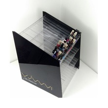 Deluxe 4-tier big acrilico <span class=keywords><strong>nail</strong></span> <span class=keywords><strong>polish</strong></span> display stand organizzatore per super mall