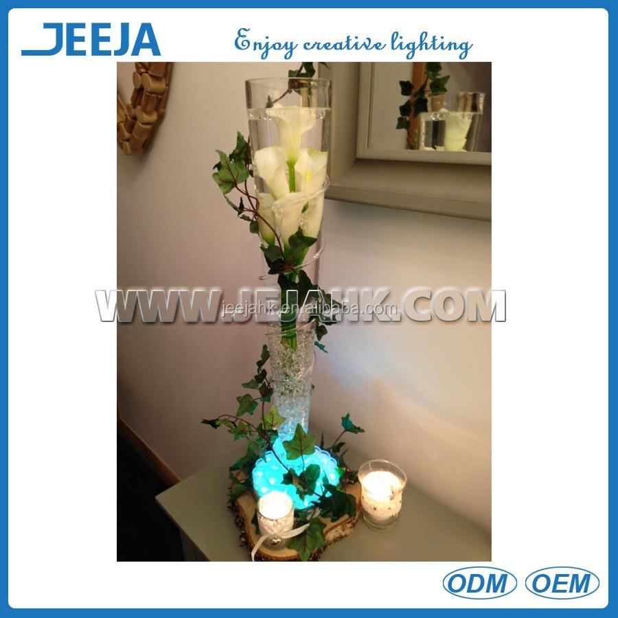 decorativo jarrn luz en la base para arreglos florales de mesa de boda