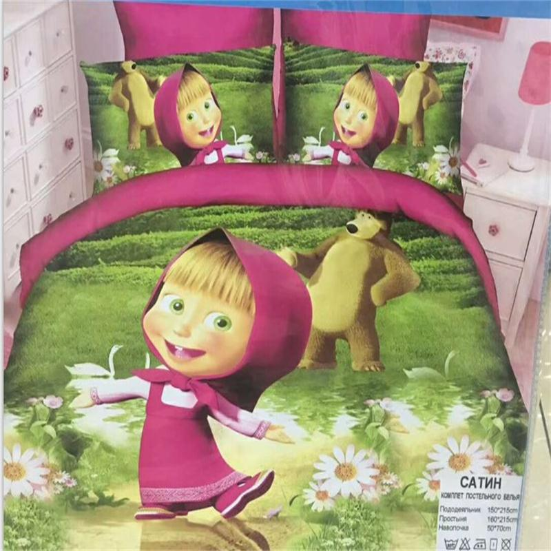 Factory Cheap Digital Printing Brushed Fabric Bedding Set For Children
