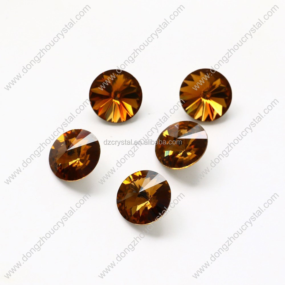 Fancy round k9 crystal stones for clothing/jewelry/shoes ornament