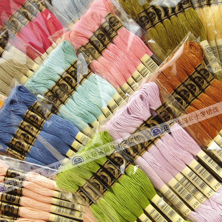 447 colors cross stitch threads for cross stitch kits  100% egyptian cotton