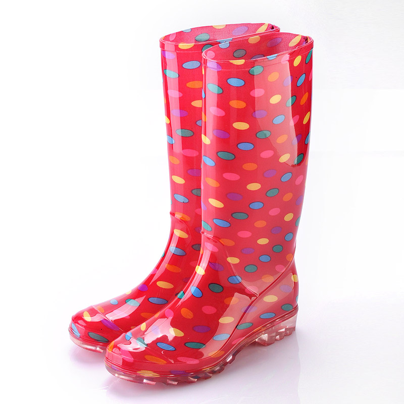 Fashionable Ladies Plastic Rain BootsLadies Wellington BootLady