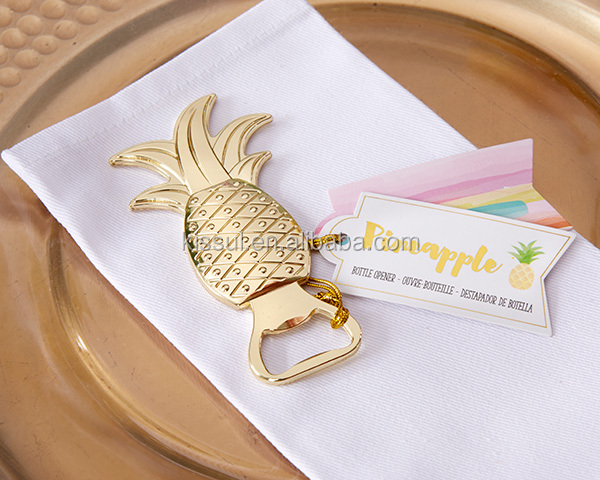 2016 Newest Wedding gift favors of Gold Pineapple Bottle Opener Party Gifts For Bridal shower favors