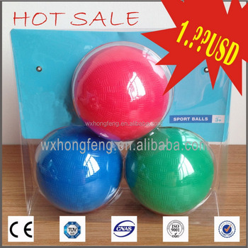 Hot selling buttom price PVC playground ball set dodgeball ball