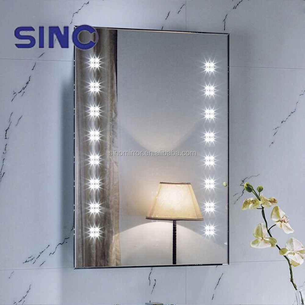 5 Star Modern Hotel Vanity Illuminated Led Bathroom Smart