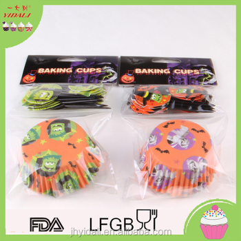 40g paper cupcake liner and toothpicks set for halloween
