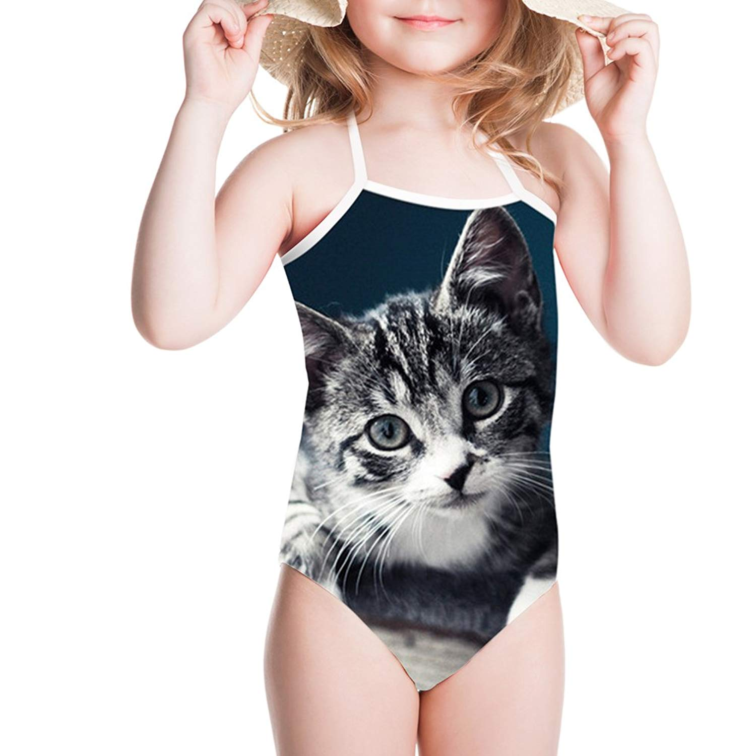 bd4a07869b5c6 Get Quotations · Sannovo Baby Surf Clothes Girl One Piece Swimsuit Cute Bathing  Suits Cover Ups