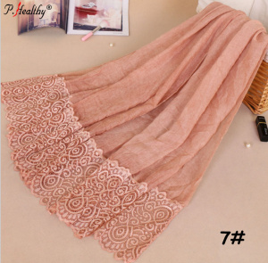 wholesale factory high quality viscose cotton lace muslim hijab scarf women shawl scarf dubai arab hijab