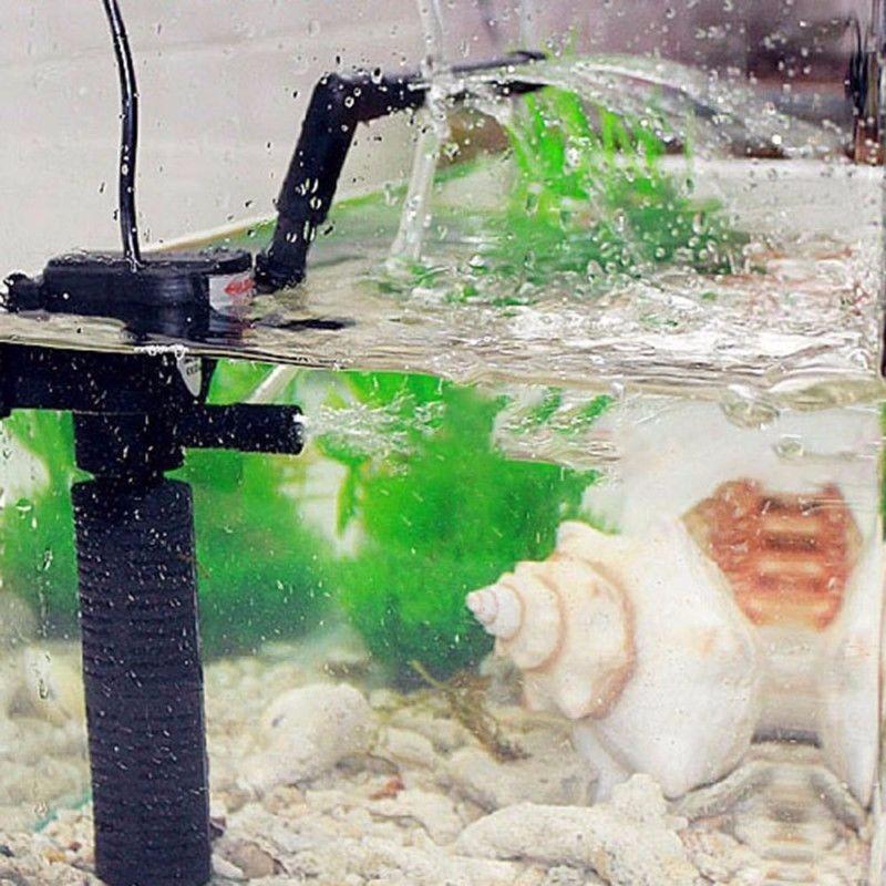 Internal Filter Pump 3 In 1 Submersible Aquarium Fish Tank Oxygen Pump