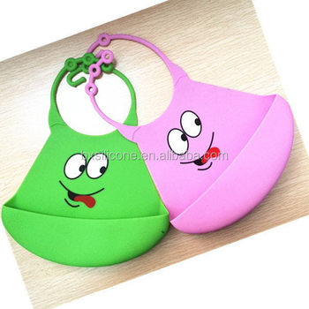 Best quality hot selling white silicone baby bibs