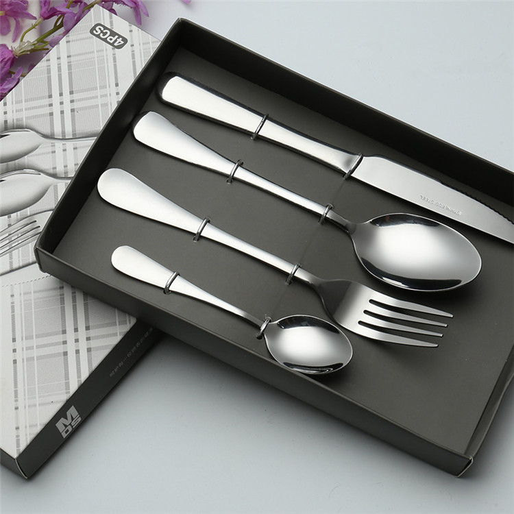 410 Spoon Knife and Fork Dinner Sets Stainless Steel