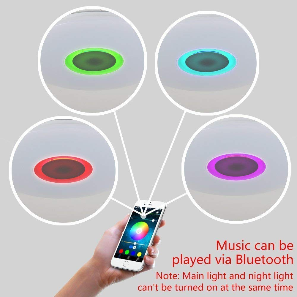 Music App Contorl Bluetooth Speaker 24w Rgb Color Changing