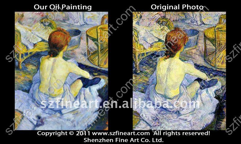 Nude woman body art hot sale oil painting