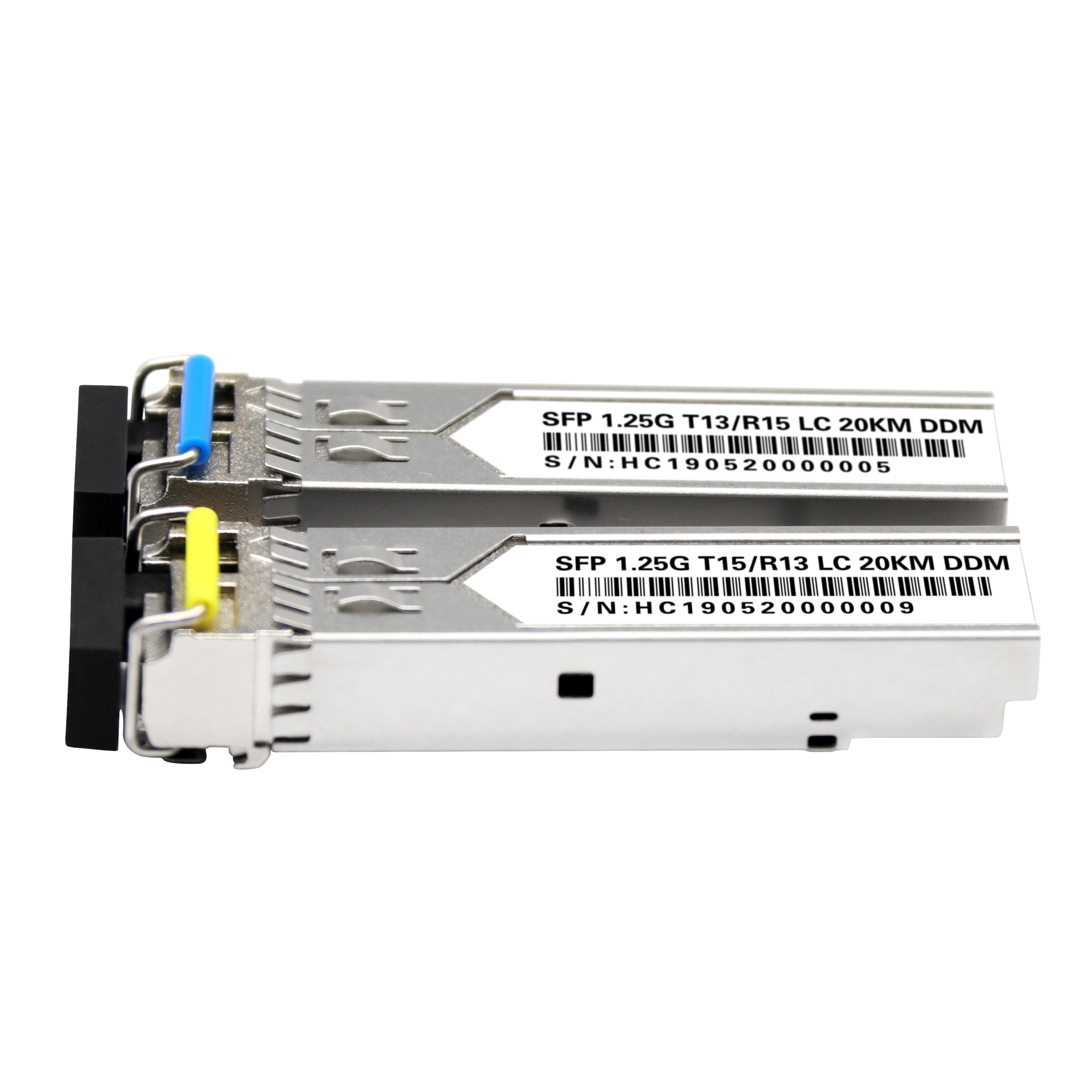 Single Fiber 1.25G 1310/1550 20km BIDI SFP