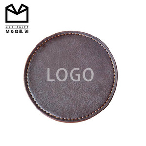 Good quality wholesale factory direct luxury faux leather pu coaster