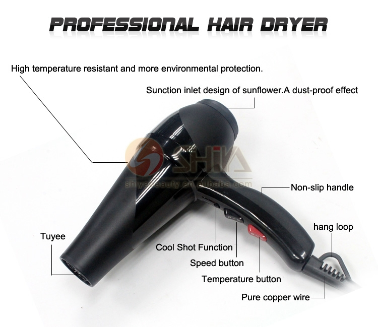 Professional hand hair blow dryer salon hooded hair dryers for Ac motor blow dryer