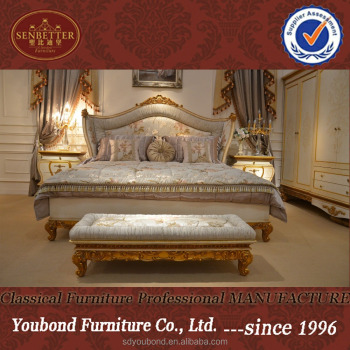 0067 European Elegant Bedroom Furniture Set,Luxurious Golden King ...