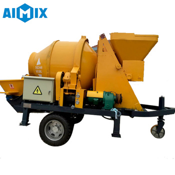 Electric mobile portable concrete mixer pump high quality low price meet your needs