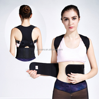 2016 Hot selling neoprene magnetic posture corrector bad back lumbar shoulder support