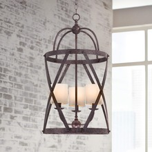 11.15-7 Modern design classic tradition to create this handsome Bronze Pendant Light design in a hallway or foyer