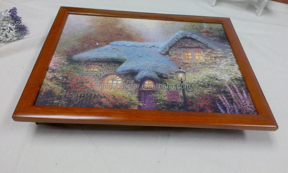 coussin plateau avec cadre en bois tv plateau repas table pliante id de produit 60101594256. Black Bedroom Furniture Sets. Home Design Ideas