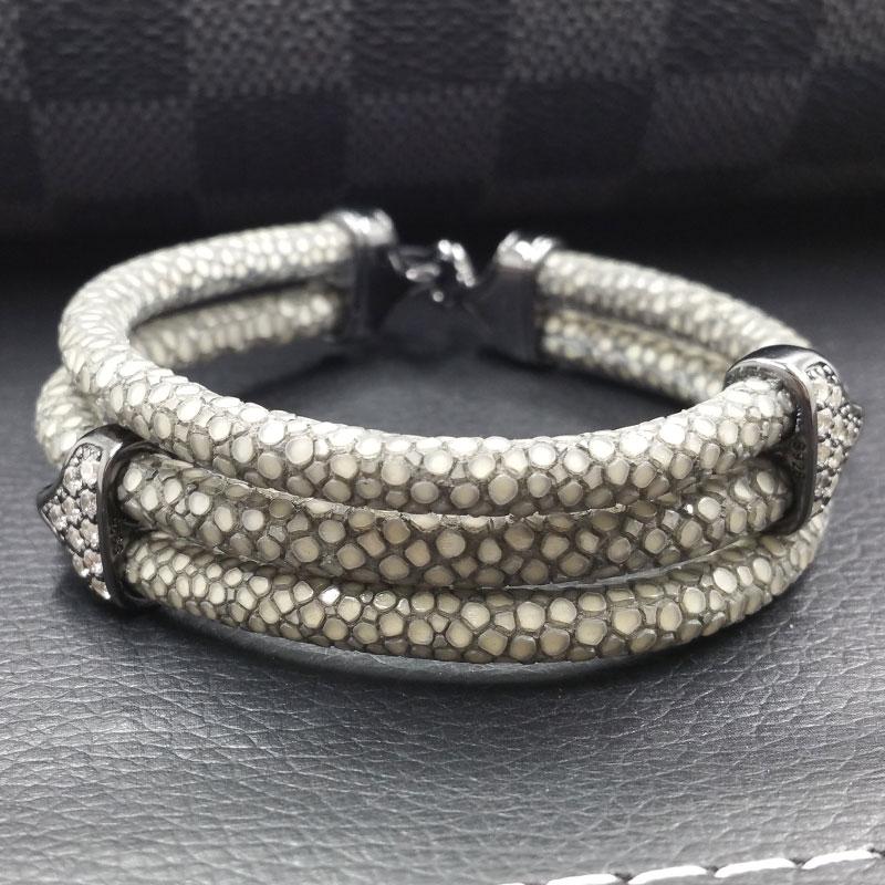 Viya Jewelry Genuine Stingray Leather Bracelet For Best Friend Birthday  Gift And Promotional Gift Items - Buy Genuine Stingray Leather Bracelet For
