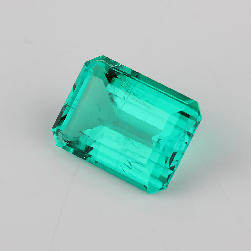 Wholesale 7*9mm Octagon Emerald Cut Green Synthetic Colombian Emerald Stone Price