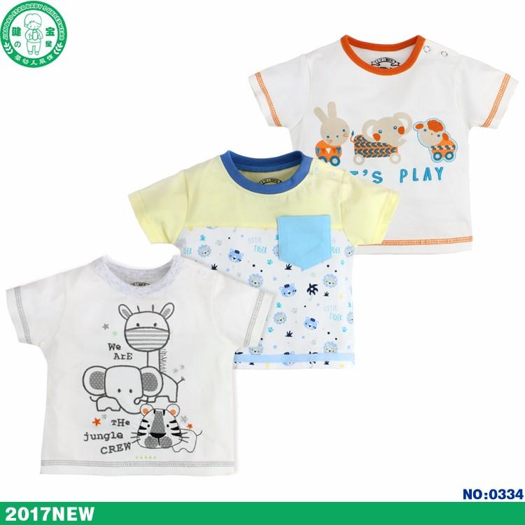Baby Cotton T Shirt Popular Baby Boy Clothes Good Quality Organic