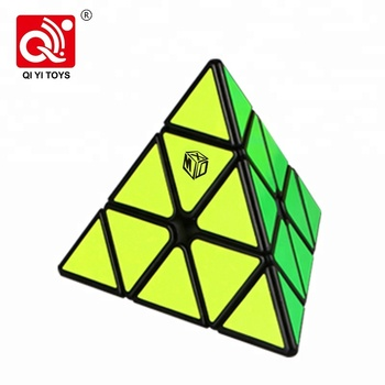 Plastic competition speed pyramid triangle intelligence cube for puzzle