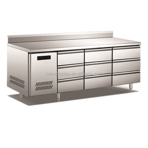 9 Drawers Stainless Steel Commercial Undercounter Fridge / Workbench Chiller /Under Bar Refrigerator