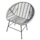 outdoor furniture handmade sythetic PE rattan dining chair with black iron legs