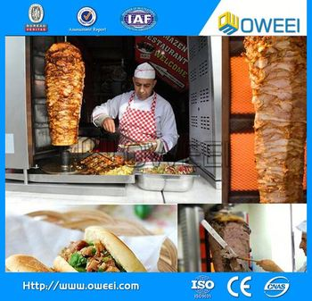 Mobile Fast Food Truck With Kebab Machine