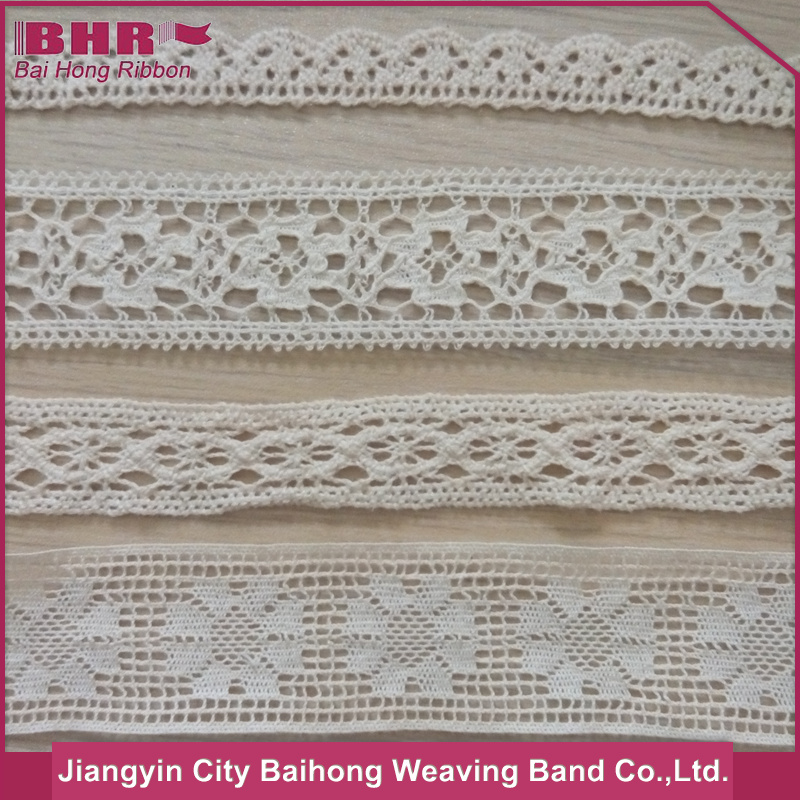 Custom made embroidered cotton lace