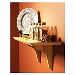 "Knape & Vogt EZ 24 OK 24"" Oak Finish Shelf-Made Images Instant Shelf Kit"